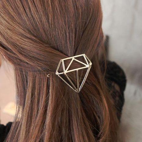 Vintage gemstone rhinestone-shaped metal ponytail clip NHOF132545's discount tags