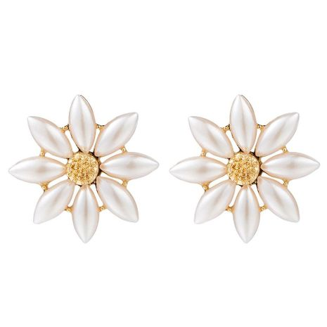 Womens Floral Beads Alloy Earrings NHCT132563's discount tags