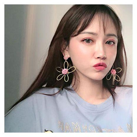 Korean personality simple handmade rice beads flower earrings NHCT132572's discount tags