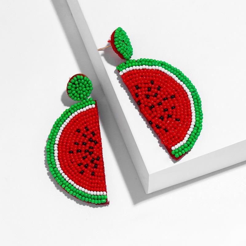 Temperament fruit wild rice beads earrings NHAS132583