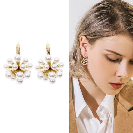 Temperament simple wild personality retro beads alloy earrings NHDO132587's discount tags