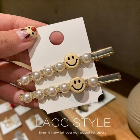 Fashion beads letter smiley hairpin NHOF132598's discount tags