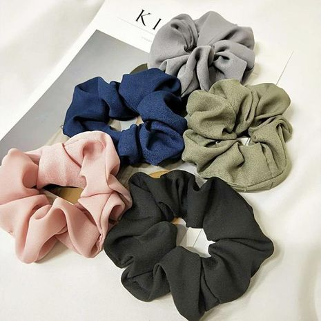 Korean version of the net color solid color elastic band fabric hair ring NHOF132600's discount tags