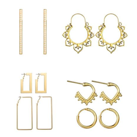 Vintage fashion openwork flowers geometric beads alloy earrings NHGY132613's discount tags