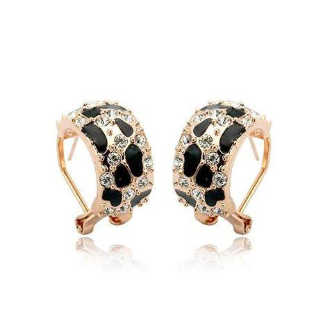 Cute rhinestone leopard earrings NHLJ138885's discount tags