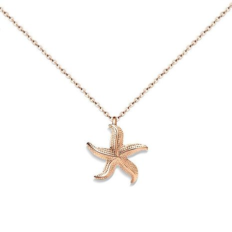 Womens Star Titanium Steel Necklaces NHOK138887's discount tags