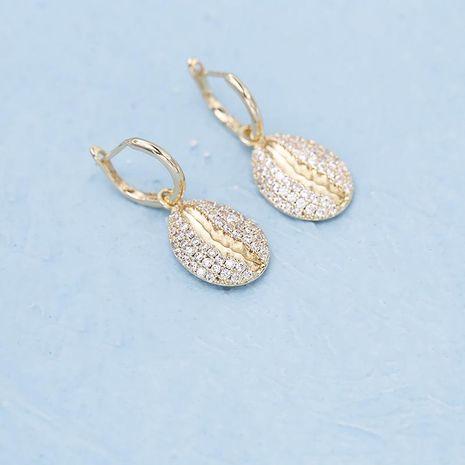 Womens Heart Shaped Cubic Zircon Earrings NHDO138896's discount tags