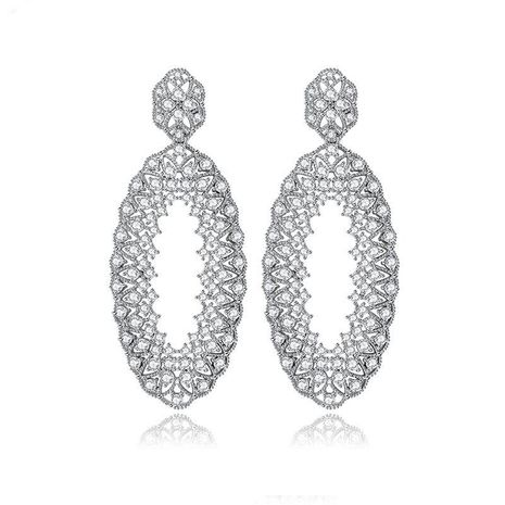 Korean version of the wind and snow month steel needle AAA zircon earrings NHTM138902's discount tags