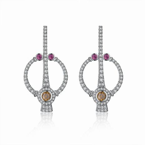 Temperament hollow micro-inlaid zircon earrings NHLJ138910's discount tags
