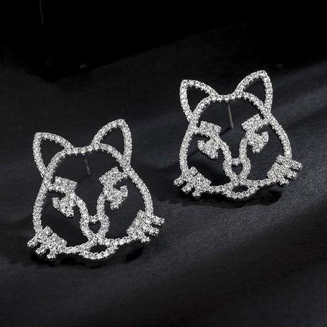 Feminine / Zodiac Electroplated Copper Osa Earrings NHLJ138933's discount tags