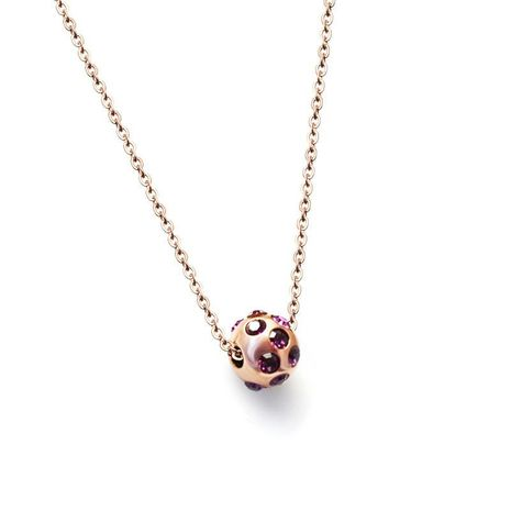 Womens geometric beads  other titanium steel Necklaces NHOK138949's discount tags