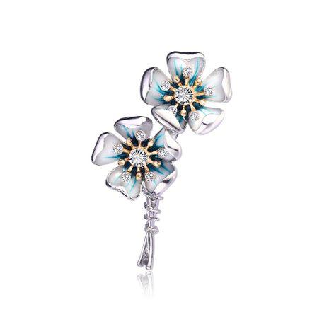 Fashion temperament drip flower brooch NHDR138958's discount tags