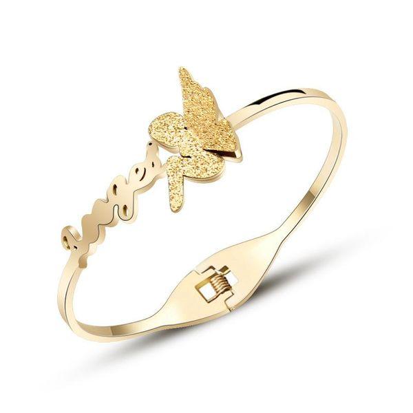 Womens Titanium Steel Bracelets & Bangles NHOK138962