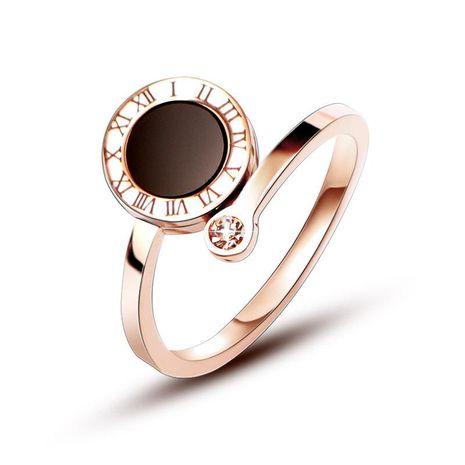 Womens Geometric Plating Titanium Steel Rings NHOK138966's discount tags