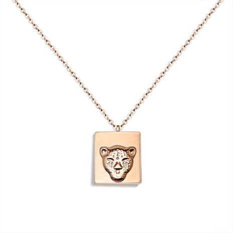 Titanium steel plated 18K alloy leopard head clavicle necklace NHOK138974's discount tags