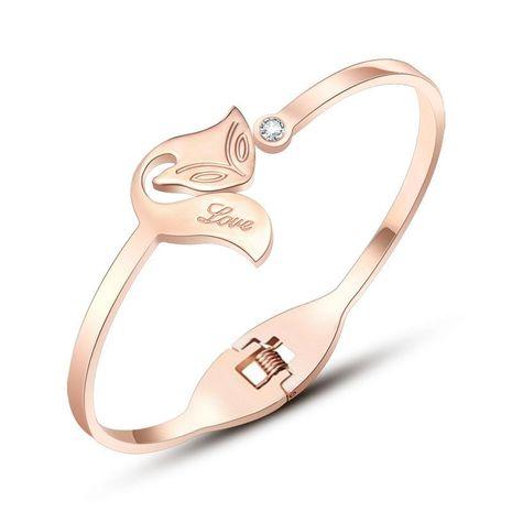 Fashion Rose Alloy Female Fox Bracelet NHOK138995's discount tags