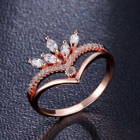Stylish and minimalist AAA zircon ring NHLJ139007's discount tags