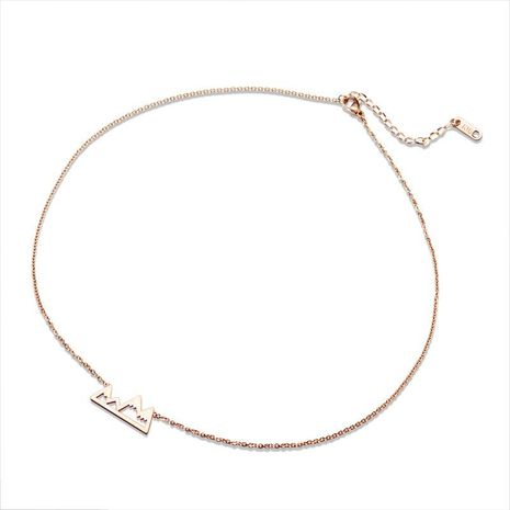 Triangle Mountain Scrub Brushed Face Clavicle Rose Alloy Necklace NHOK139013's discount tags