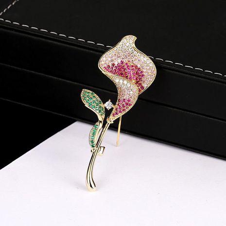 Stylish minimalist colored tulip brooch NHDO139014's discount tags