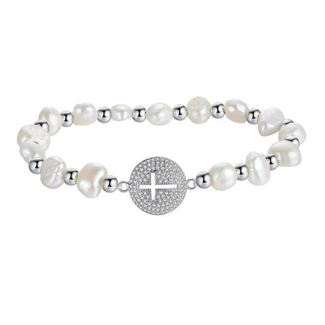 Fashion Korean Round Cross Beads Bracelet NHTM139018's discount tags