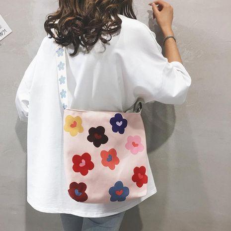 Canvas flower shoulder bag NHXC141477's discount tags