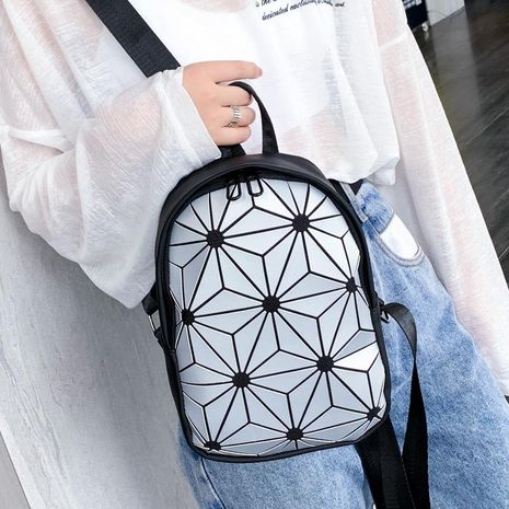 Korean version of the personality laser backpack NHXC141506's discount tags