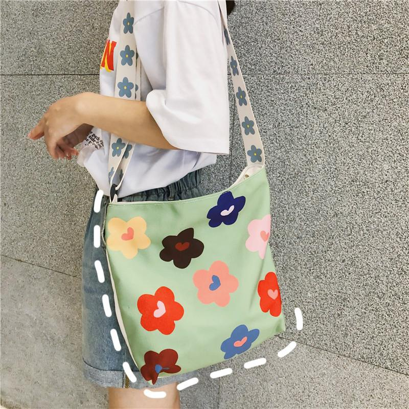 Fashion flower canvas Japanese shoulder bag NHXC141553