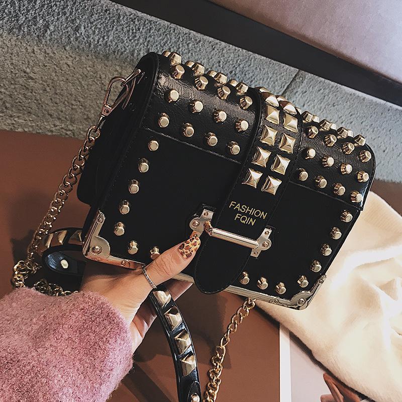 Korean version of the fashion Messenger bag small square bag NHPB141585