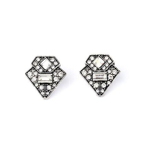 Vintage fresh versatile rhinestone stud earrings NHQD141634's discount tags