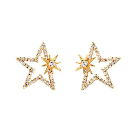 S925 Alloy Needle Design Star Zircon Earrings NHQD141641's discount tags