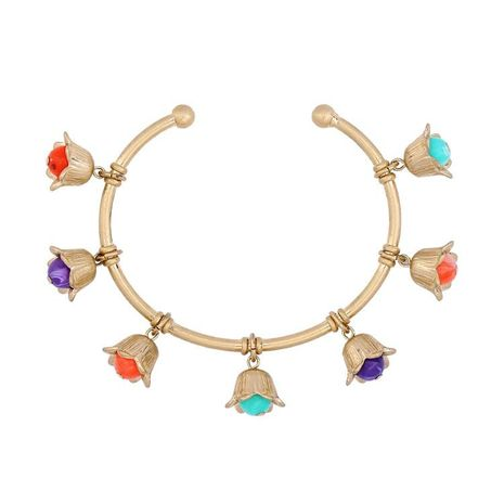 Stylish minimalist color bell bracelet NHQD141645's discount tags
