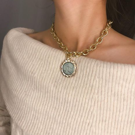 Vintage geometric rough stone necklace NHXR141653's discount tags
