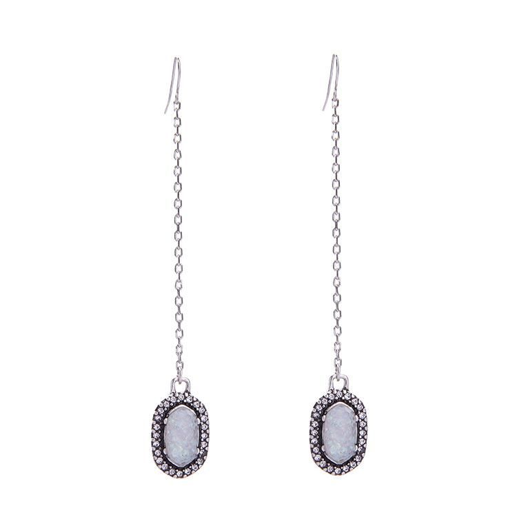 Womens Geometric Rhinestone Alloy Earrings NHQD141659