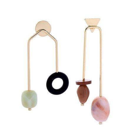 Creative geometric asymmetrical acrylic earrings NHQD141671's discount tags