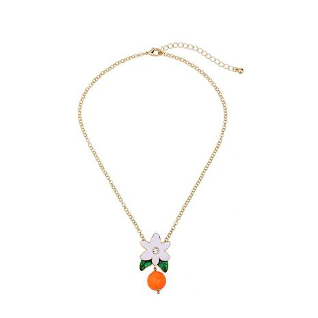 Womens Floral Electroplating Alloy Necklaces NHQD141673's discount tags