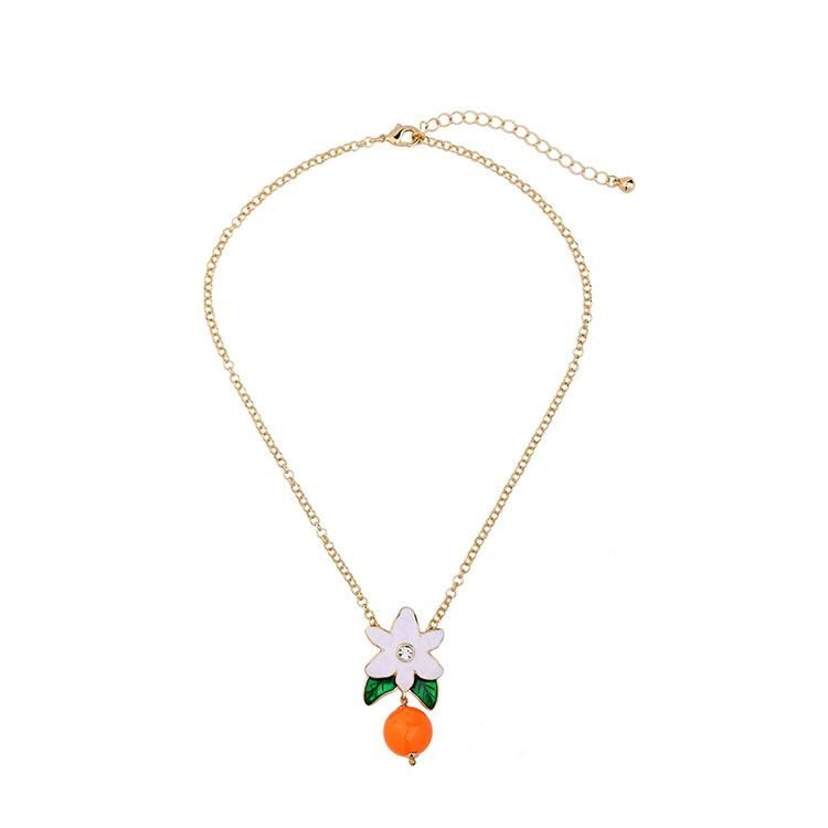 Womens Floral Electroplating Alloy Necklaces NHQD141673