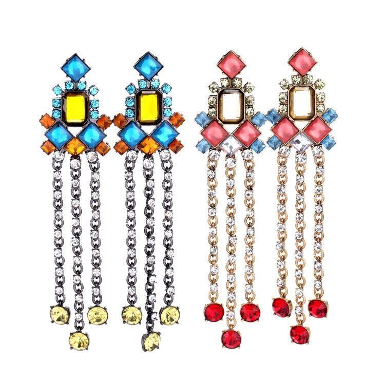 Wild tassels and generous ladies earrings NHQD141688