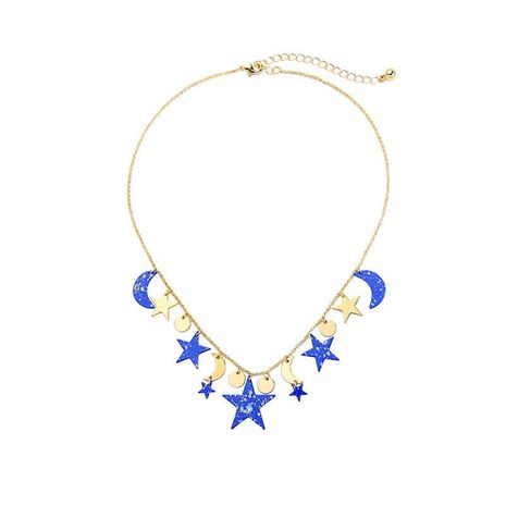 Simple Star Moon Pendant Necklace NHQD141703's discount tags