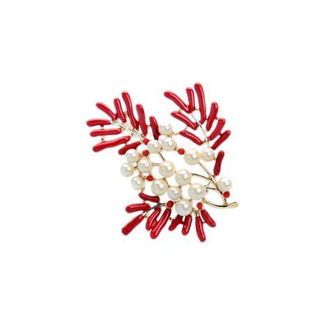 Fashion branch beadss cute brooch NHQD141748's discount tags