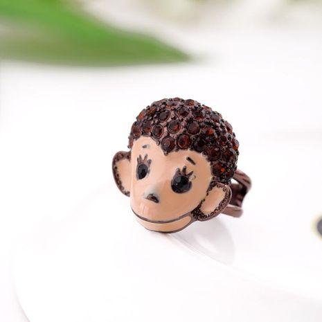 Cute rhinestone cartoon monkey ring NHQD141752's discount tags
