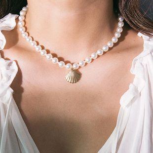 Collares geométricos  redondos  de concha y de vieira para mujer  NHXR141775's discount tags