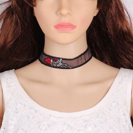 Stylish minimalist rose transparent choker NHJQ141798's discount tags