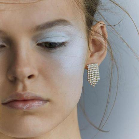 Fashion tassel with rhinestone earrings NHJQ141807's discount tags