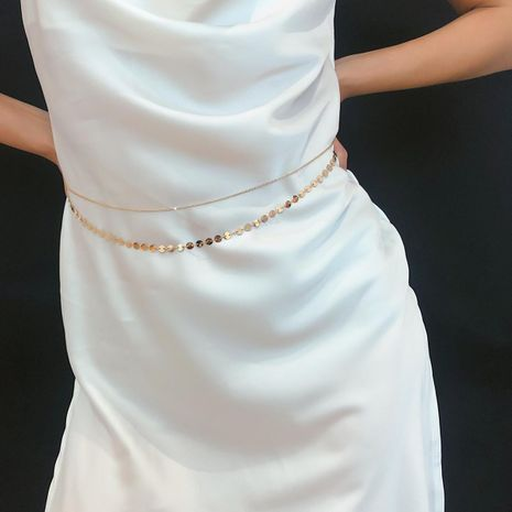 Simple and versatile sexy copper bead body chain NHXR141809's discount tags