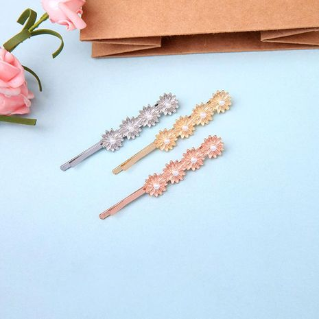 Simple flower beads inlaid hair accessory NHQD141824's discount tags