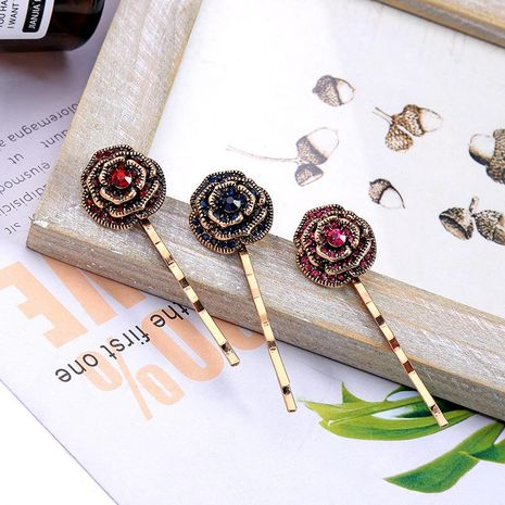 Vintage rose flower alloy hair accessory NHQD141831's discount tags