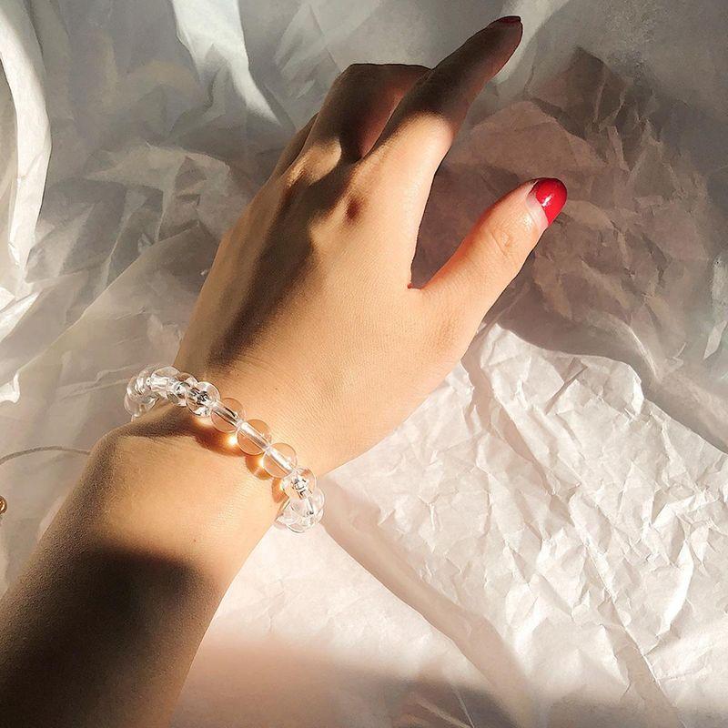 Simple Acrylic Beads Colored Wax Bracelet NHXR141834