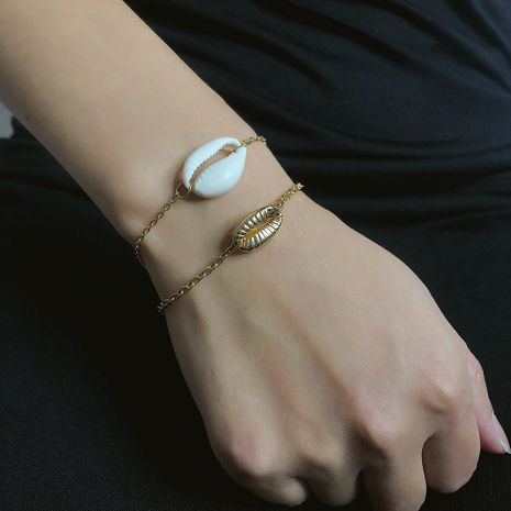 Simple shell combination chain bracelet NHXR141838's discount tags