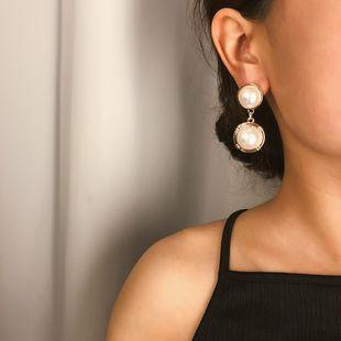 Pendientes colgantes en forma de perla simples de temperamento NHXR141843's discount tags
