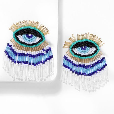 Bohemian ethnic eye tassel earrings NHJQ141851's discount tags